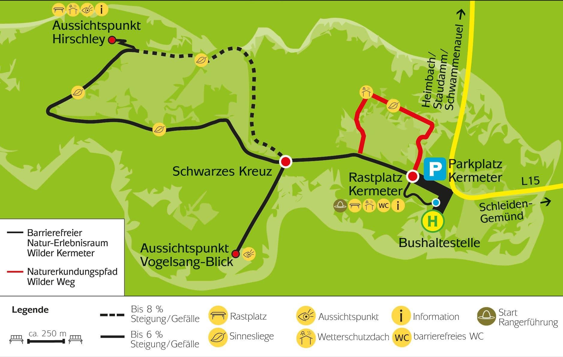 Nationalpark Eifel Karte.Wilder Kermeter Und Wilder Weg Nationalpark Eifel