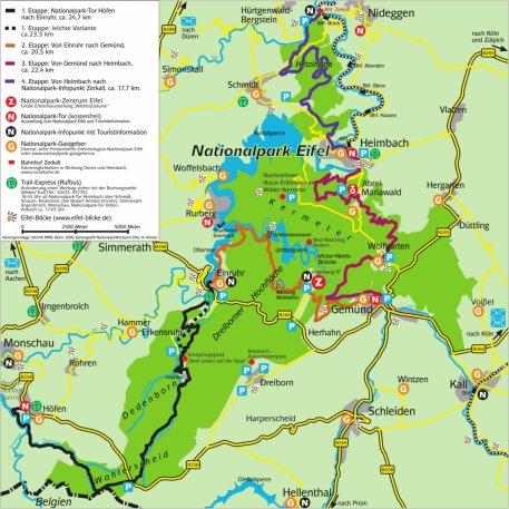 nationalpark eifel karte Organisation und Rücktransport | Nationalpark Eifel