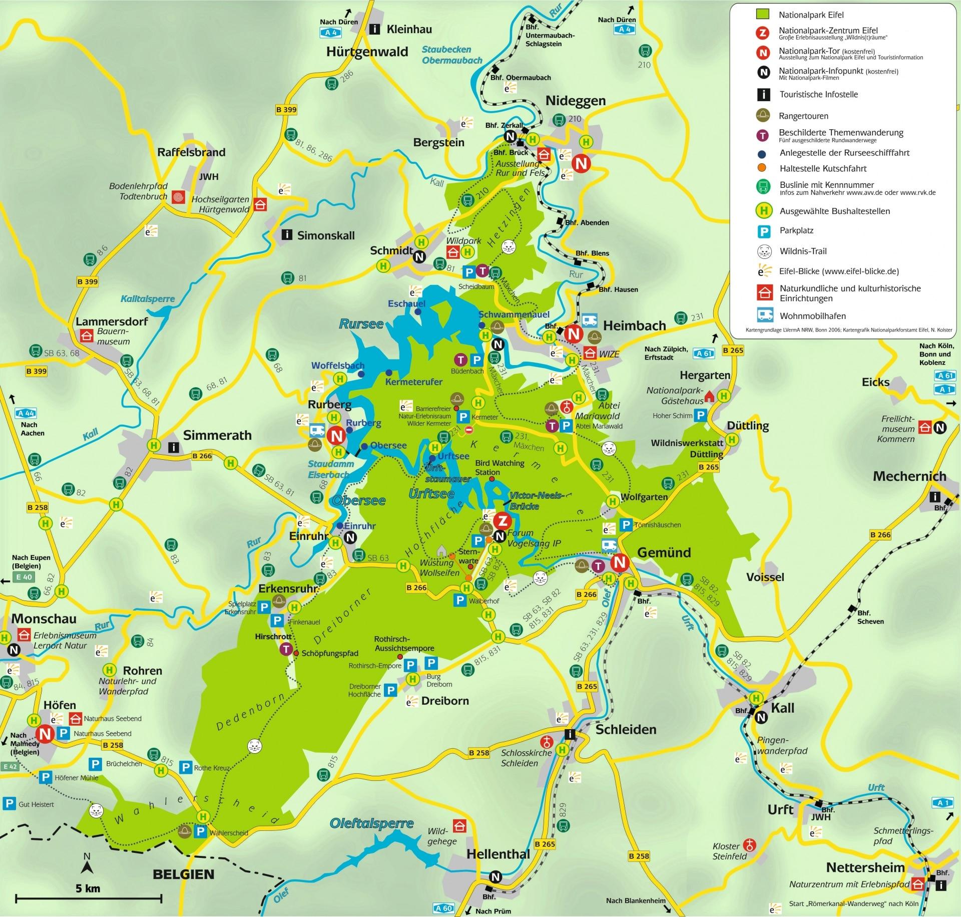 Bucher Und Karten Nationalpark Eifel