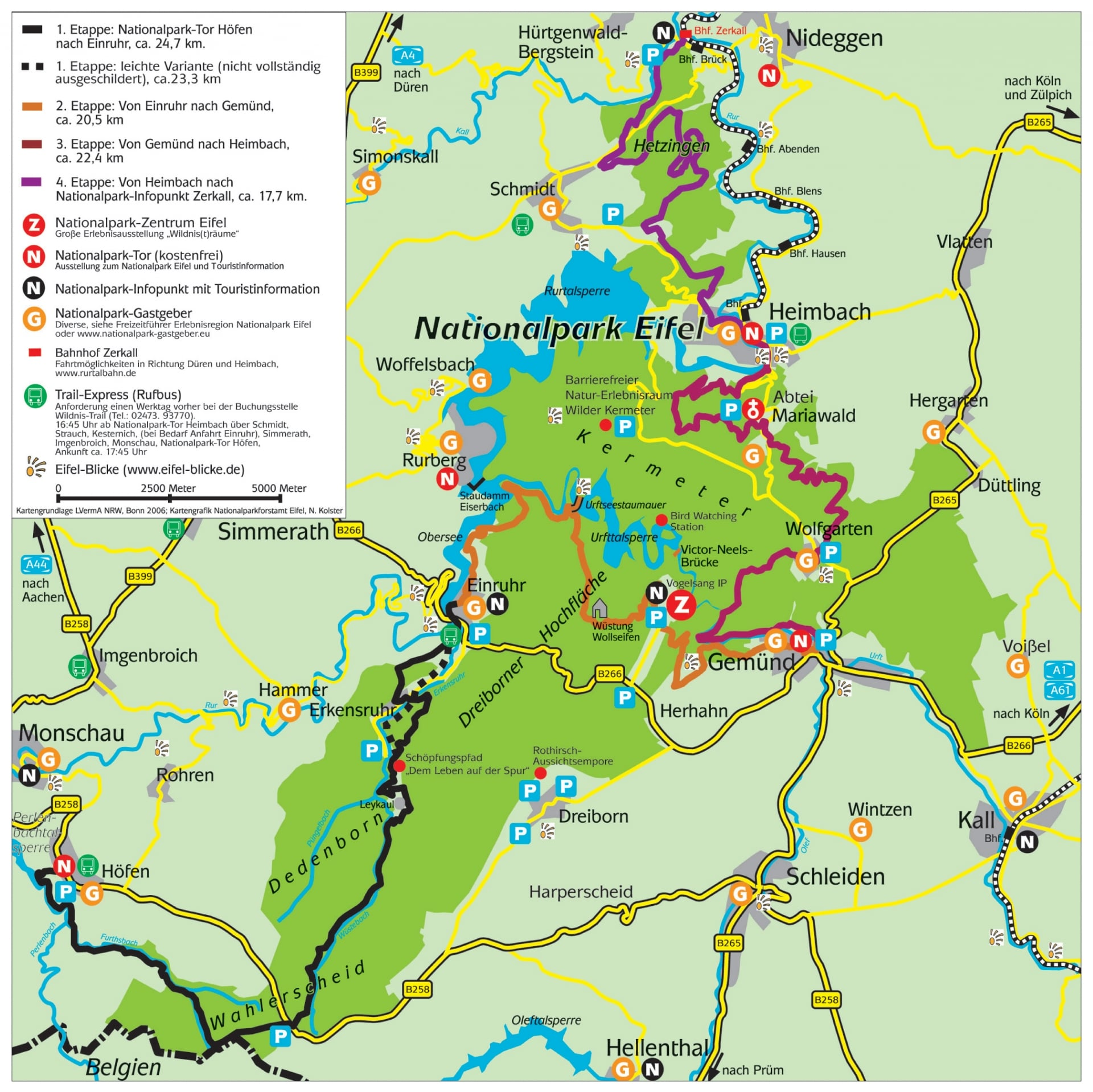nationalpark eifel karte Wildnis Trail | Nationalpark Eifel